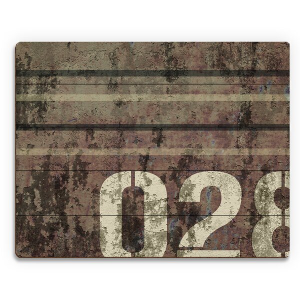 Warehouse 028 Gray and Faded Wine Graphic Art on Plaque by Click Wall Art