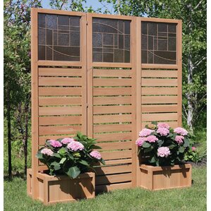 Langdon Privacy Screen With Planters