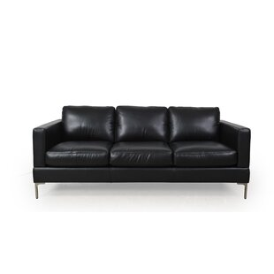 Kathrin Leather Standard Sofa Orren Ellis