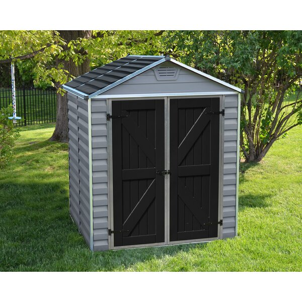 SkyLight 6 ft. 1 in. W x 5 ft. D Plastic Storage Shed by Palram