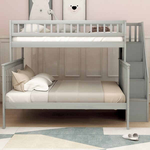 Manila Twin over Full Bunk Bed with Shelves by Harriet Bee