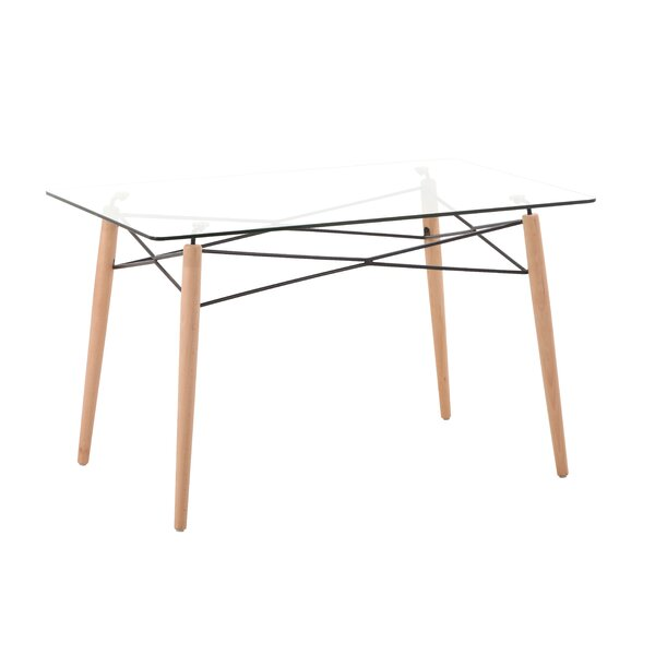 Kamron Glass Top Dining Table by George Oliver