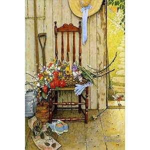 'Spring Flowers' by Norman Rockwell Painting Print on Wrapped Canvas by August Grove