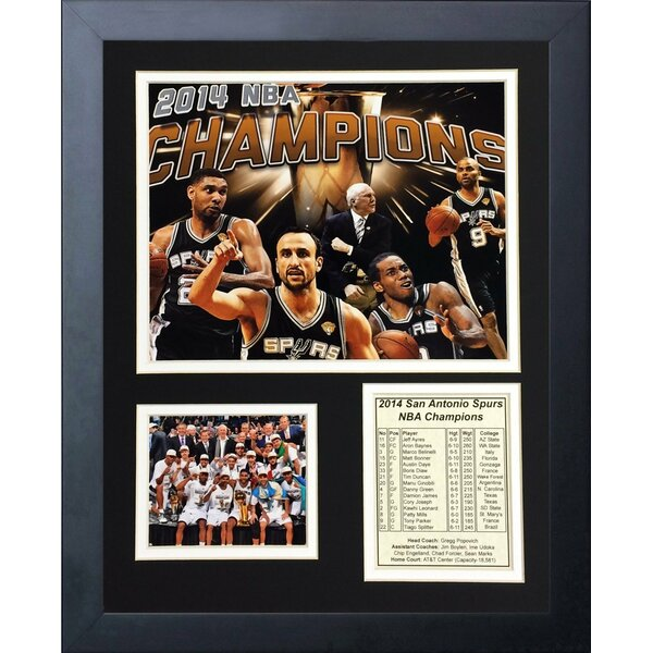 2014 San Antonio Spurs NBA Champions Framed Photographic Print by Legends Never Die