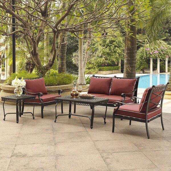 Nadine 5 Piece Sofa Set with Cushions by Fleur De Lis Living
