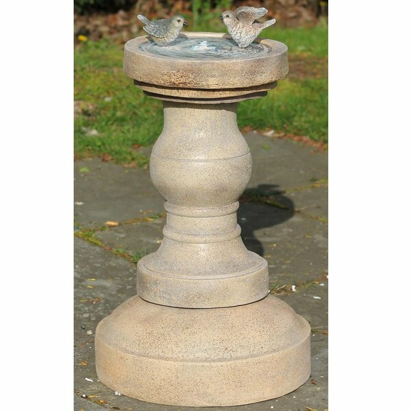 Polystone Birds of a Feather Outdoor Water Fountain with LED Light by Northlight Seasonal