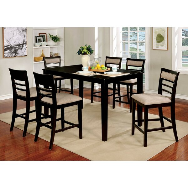 Opalstone 7 Piece Counter Height Solid Wood Dining Set by Gracie Oaks