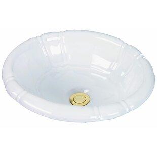 Buy luxury Designer Series Ceramic Oval Drop-In Bathroom Sink ByCole + Company