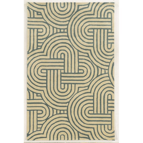 Milford Hand-Tufted Ivory/Gray Area Rug by Meridian Rugmakers