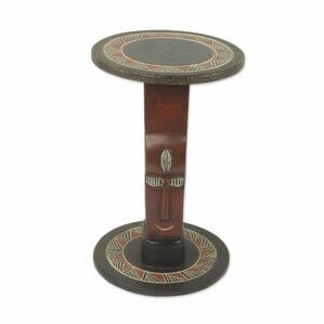 African Prince Wood End Table by Novica