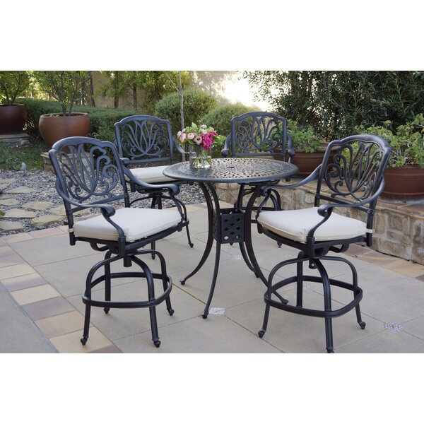 Buhr 5 Piece Dining Set with Cushions by Canora Grey