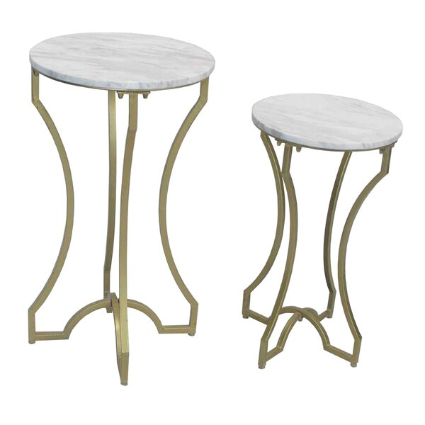 End 2 Pieces Nesting Tables by Sagebrook Home
