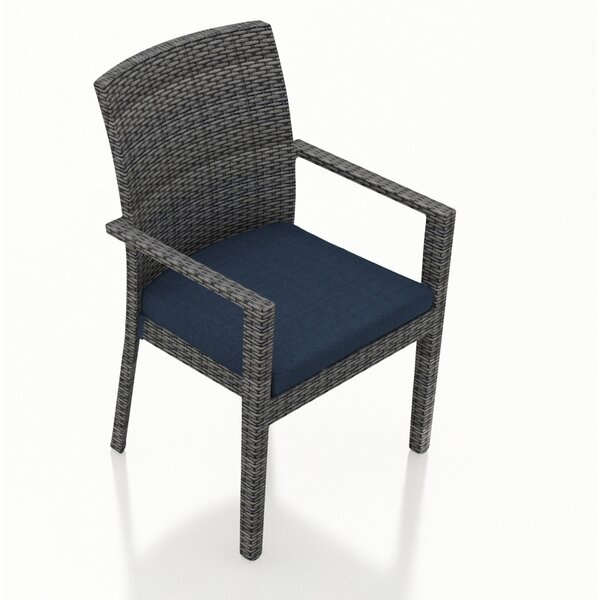 Hobbs Patio Dining Chair with Cushion by Rosecliff Heights
