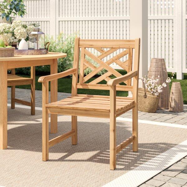 "Summerton Lattice Back Teak Patio Dining Chair by Birch Laneâ""¢ Heritage"