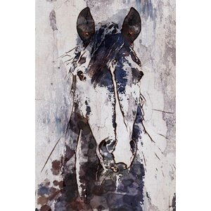'Mustang Horse' by Irena Orlov Painting Print on Wrapped Canvas by Marmont Hill
