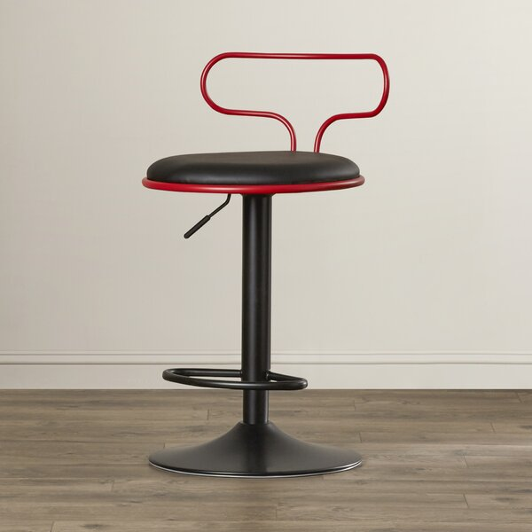 Jasvinder Adjustable Height Swivel Bar Stool by Orren Ellis