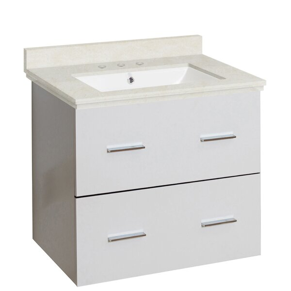 Kyra 24 Single Bathroom Vanity Set with Marble Top by Orren Ellis