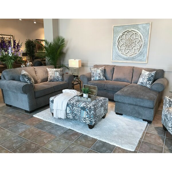 Mraz Nickel 3 Piece Living Room Set by Red Barrel Studio