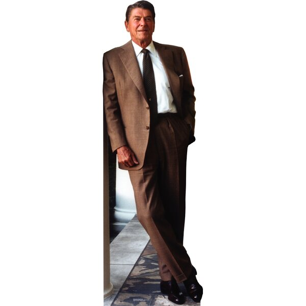 Patriotism and Politics President Ronald Reagan in Suit Cardboard Stand-up by Advanced Graphics