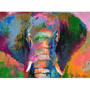 Elephant 2 by Richard Wallich on Canvas by Trademark Fine Art
