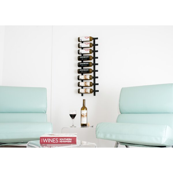 Indurial 9 Bottle Wall Mounted Wine Bottle Rack by Rebrilliant Rebrilliant