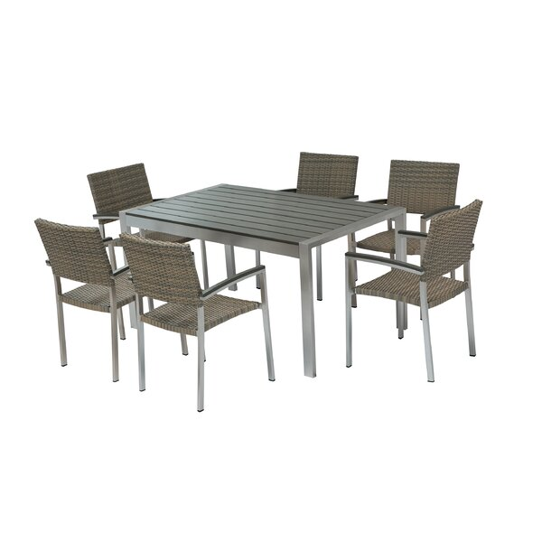 Honeycutt 7 Piece Dining Set by Brayden Studio