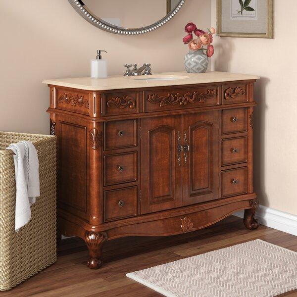 Astaire 48 Single Sink Cabinet Bathroom Vanity Set by Astoria Grand
