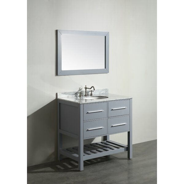 Cockrell 36 Single Bathroom Vanity Set with Mirror by Mercury Row