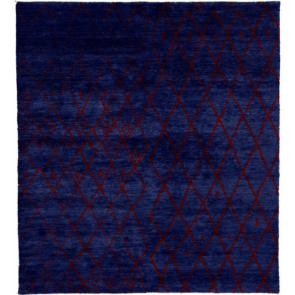 One-of-a-Kind Waldenburg Hand-Knotted Traditional Style Blue 12' x 15' Wool Area Rug