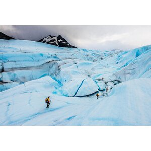 Ice Canyon Exploration, Tyndall Glacier, Patagonian Ice Cap, Patagonia, Chile Photographic Print on Wrapped Canvas by East Urban Home