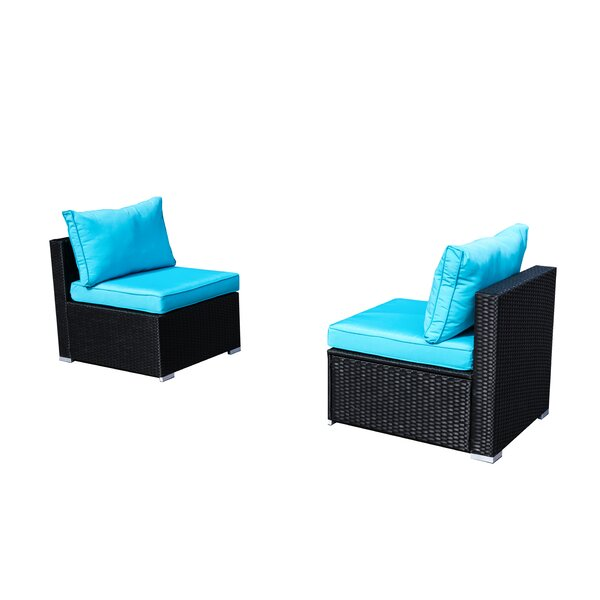 Devair Patio Chair with Cushions (Set of 2) by Red Barrel Studio
