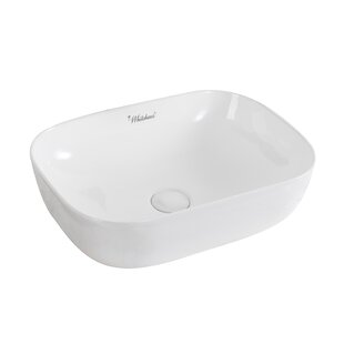 Isabella Plus Vitreous China Rectangular Vessel Bathroom Sink