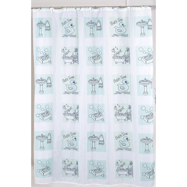 Bath Time Shower Curtain by Carnation Home Fashions