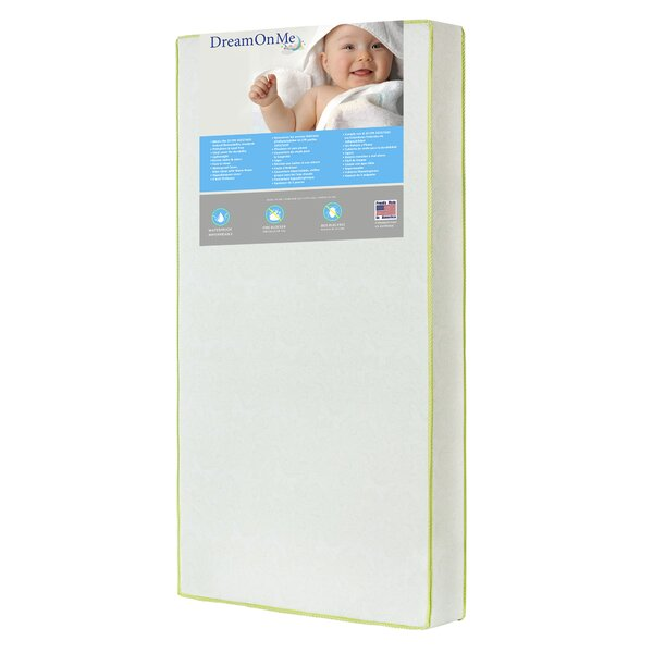 Breathable Core Little Butterflies 6 Crib and Toddler Mattress by Dream On Me