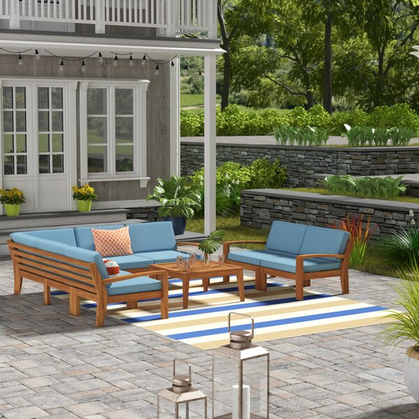Bilbao Outdoor 8 Piece Sectional Seating Group with Cushion by Longshore Tides