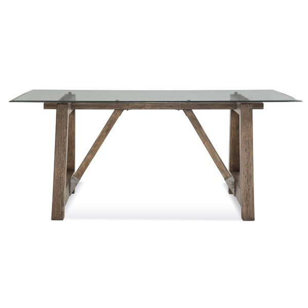 Ouareau Adjustable Leg Dining Table by Union Rustic