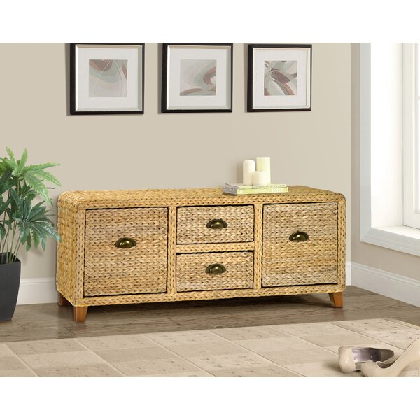 Nobles Wood Storage Bench by Beachcrest Home