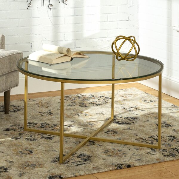 Shawsville Cross Legs Coffee Table With Storage By Mercer41