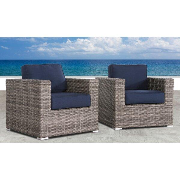 Fears Resort Grade Club Patio Chair with Sunbrella Cushions (Set of 2) by Orren Ellis