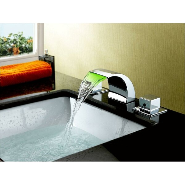 Widespread LED Waterfall Bathroom Sink Faucet by S