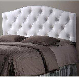 Myra White Scalloped Full Upholstered Panel Headboard by Wholesale Interiors