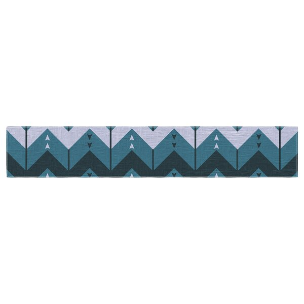 Nick Atkinson Chevron Dance Table Runner by East Urban Home