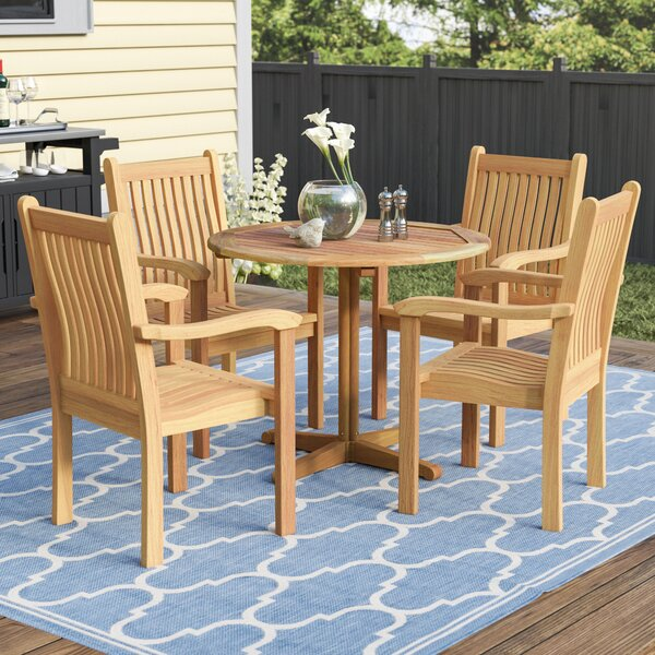 Rossford 5 Piece Teak Dining Set by Red Barrel Studio