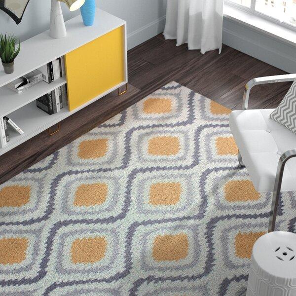 Garrard Hand-Woven Yellow Area Rug by Zipcode Design