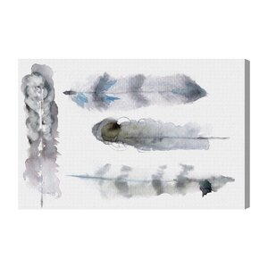 Feathers Painting Print on Wrapped Canvas by Mercury Row