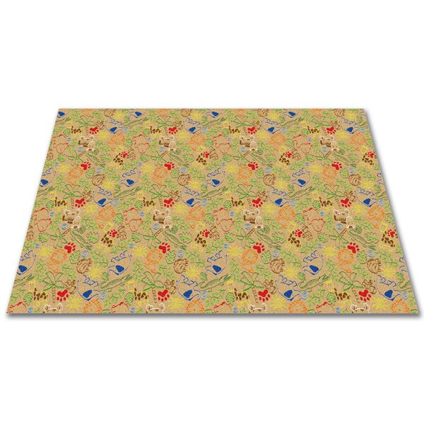 Animal Doodles Tan Area Rug by Kid Carpet