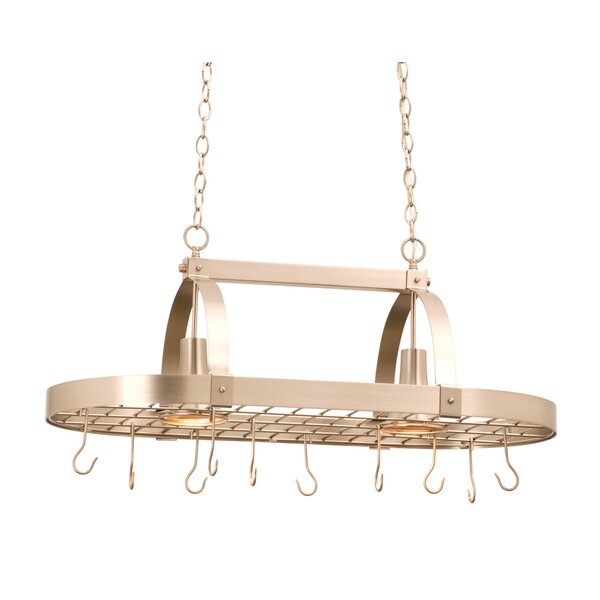 2 Light Hanging Pot Rack by Kalco