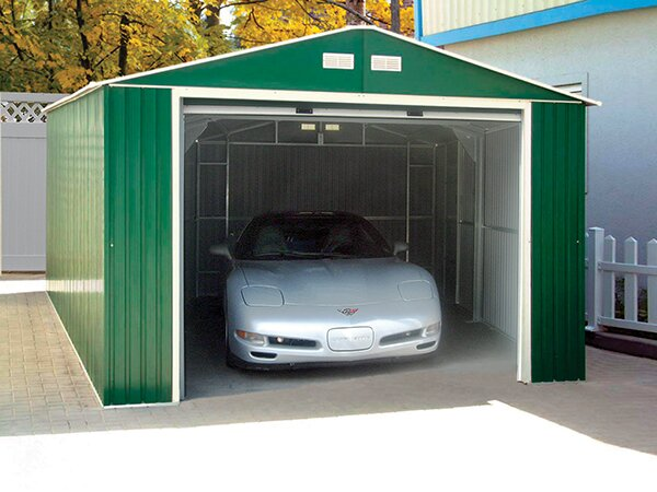 extra wide double door garage duramax imperial 12 ft w x 20 ft d metal garage shed reviews