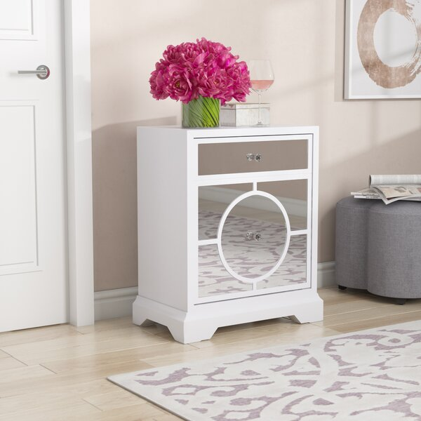Review McMullen Mirrored Accent Cabinet