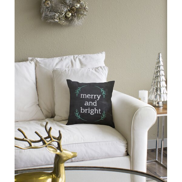 Merry And Bright Throw Pillow by The Holiday Aisle